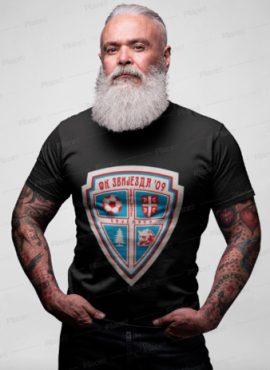 Muška T-shirt majica Crne Boje